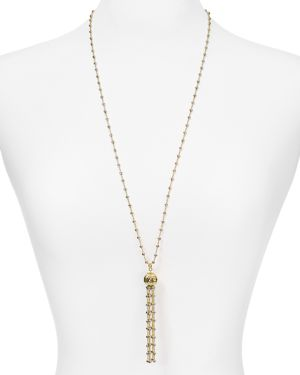 OFFICINA BERNARDI TWO-TONE TASSEL PENDANT NECKLACE, 30