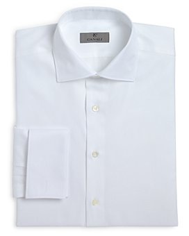 Canali - Herringbone French Cuff Classic Fit Dress Shirt