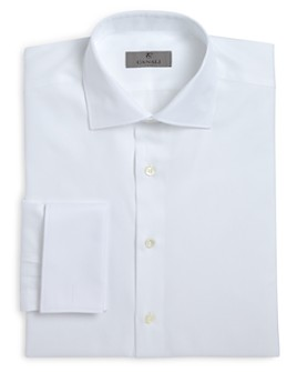 Canali - Herringbone French Cuff Classic Fit Dress Shirt