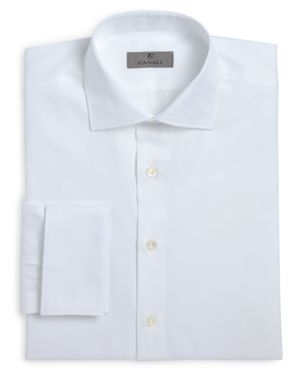 Canali Herringbone French Cuff Classic Fit Dress Shirt