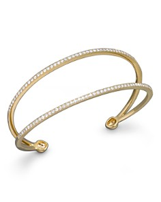 Bloomingdale's - Diamond Double Row Cuff Bracelet in 14K Yellow Gold, 1.0 ct. t.w. - 100% Exclusive