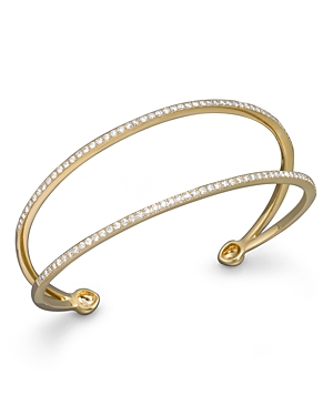 Diamond Double Row Cuff Bracelet in 14K Yellow Gold, 1.0 ct. t.w. - 100% Exclusive