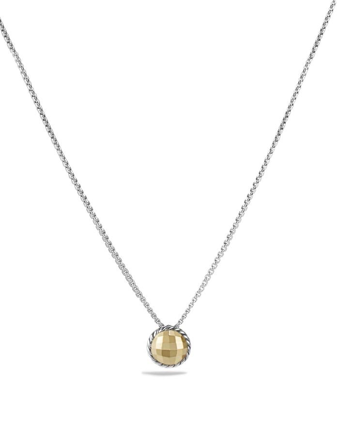 David Yurman Châtelaine Necklace with Gold Dome and 18K Gold   | Bloomingdale's