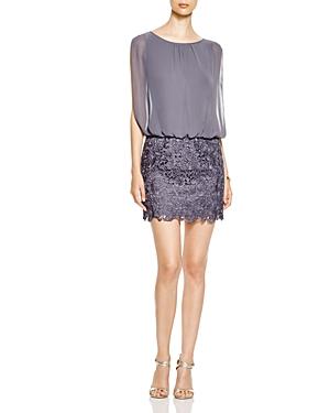Aidan Aidan Sleeveless Blouson Bodice & Lace Skirt Dress