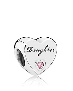 PANDORA Sterling Silver & Cubic Zirconia Daughter's Love Charm - Bloomingdale's_0