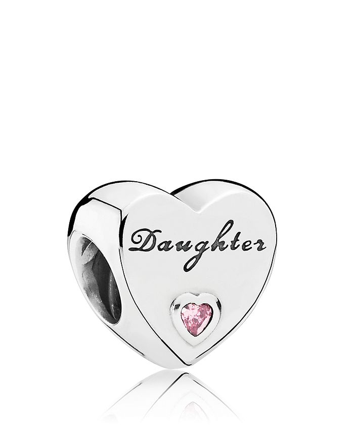 Pandora - Sterling Silver & Cubic Zirconia Daughter's Love Charm