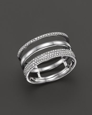 Bloomingdale's - Diamond Triple Row Band Ring in 14K White Gold, .30 ct. t.w.- 100% Exclusive
