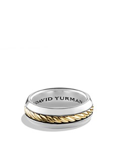 David Yurman Cable Classics Ring with 18K Gold - Bloomingdale's_0