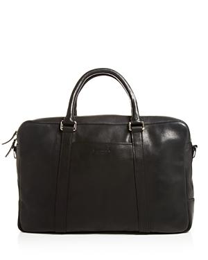 Shinola Slim Leather Briefcase-Men