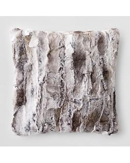 "Adrienne Landau - Goma Rabbit Fur Decorative Pillow, 20"" x 20"""