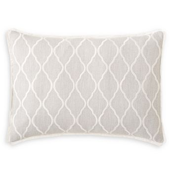 "Vera Wang - Fretwork Embroidered Woven Pillow, 15"" x 20"""