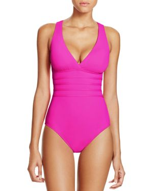 La Blanca Multistrap Cross Back Maillot One Piece Swimsuit