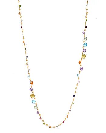 Marco Bicego - 18K Yellow Gold Paradise Graduated Mixed Stone Necklace, 47.25""