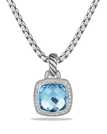 David Yurman - Albion Pendant with Blue Topaz and Diamonds