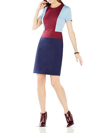 BCBGMAXAZRIA - Drie Color-Block Ponte Dress