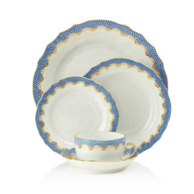 Fishscale Light Blue Bread & Butter Plate