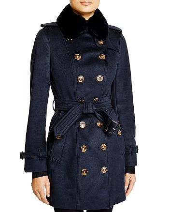 Burberry - Sandringham Fur Collar Trench Coat