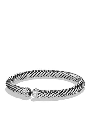 David Yurman - Cable Spira Bracelet with Diamonds