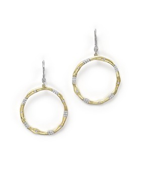Meira T - 14K Gold and Diamond Open Circle Earrings