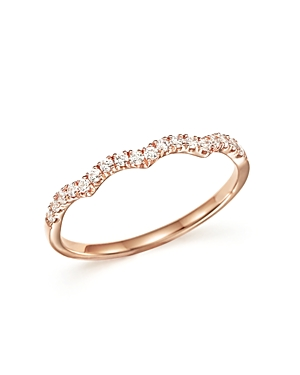 Diamond Stackable Band Ring in 14K Rose Gold, .15 ct. t.w. - 100% Exclusive