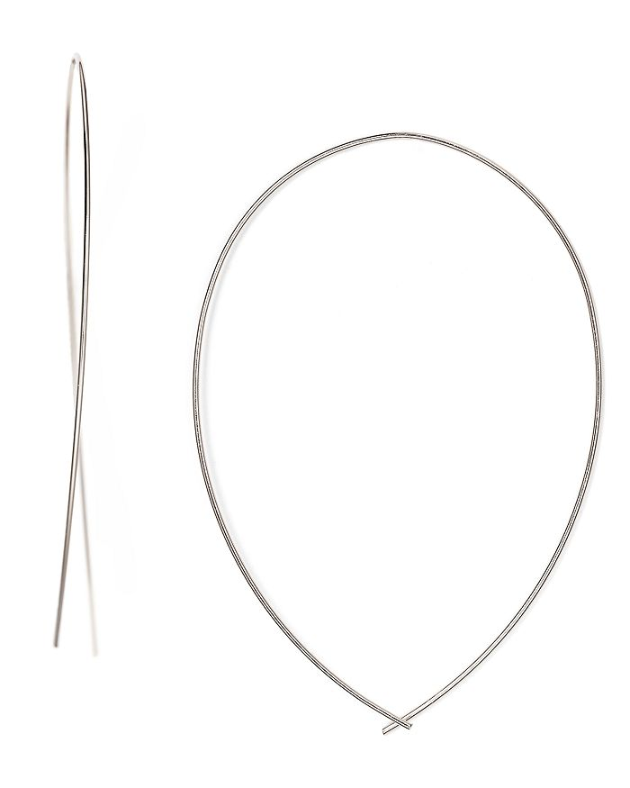 Jules Smith Girls Night Out Hoop Earrings In Silver
