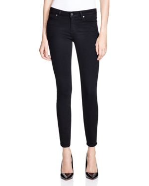 Paige Verdugo Skinny Ankle Jeans in Black Shadow