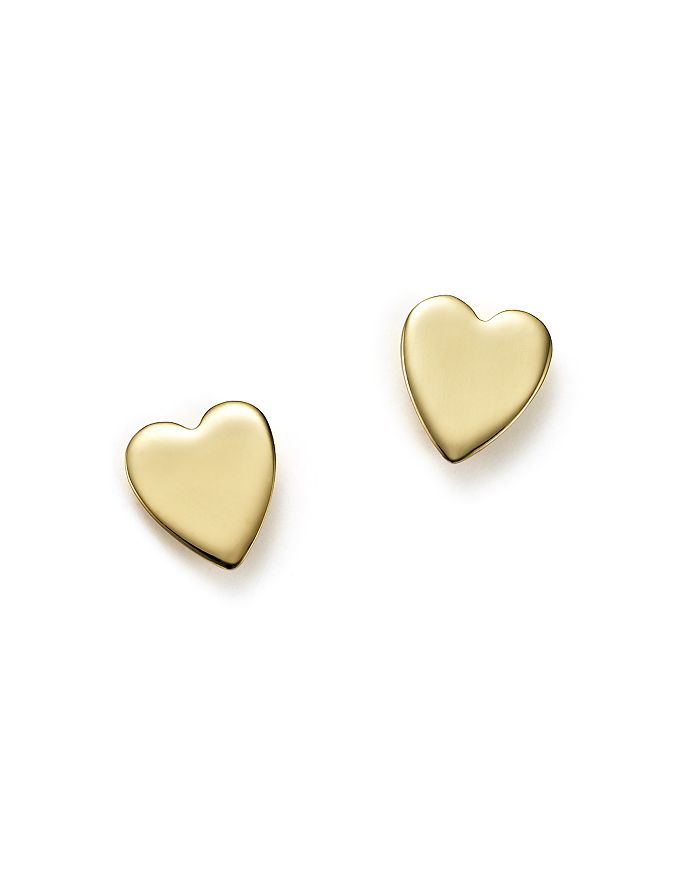 Bloomingdale's - 14K Yellow Gold Medium Heart Stud Earrings - 100% Exclusive