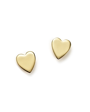 14K Yellow Gold Medium Heart Stud Earrings - 100% Exclusive
