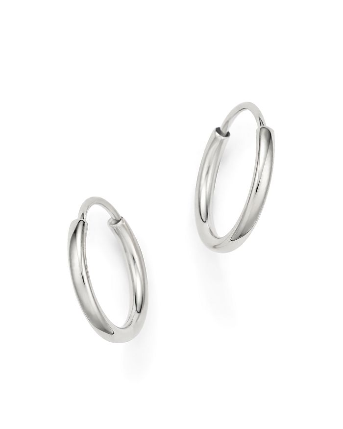 Bloomingdale S 14k White Gold Small Endless Hoop Earrings 100 Exclusive