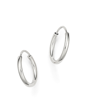 14K White Gold Small Endless Hoop Earrings - 100% Exclusive