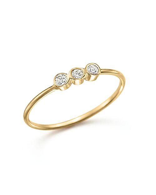 Zoë Chicco - 14K Yellow Gold and Diamond Bezel-Set Ring