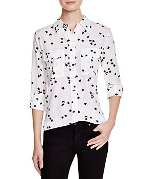 Equipment - Slim Signature Silk Top