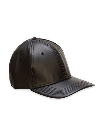 Gents - Black Leather Cap