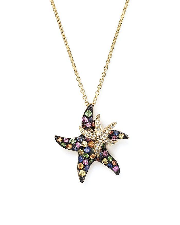 Shire And Diamond Starfish Pendant