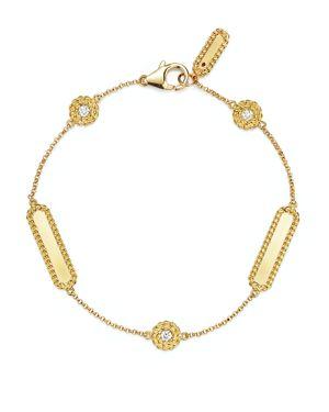 Roberto Coin 18K Yellow Gold New Barocco Diamond Bracelet
