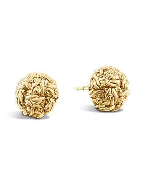 JOHN HARDY - Women's Classic Chain 18K Yellow Gold Stud Earrings
