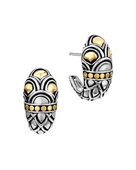 JOHN HARDY - John Hardy Sterling Silver & 18K Gold Naga Shrimp Earrings