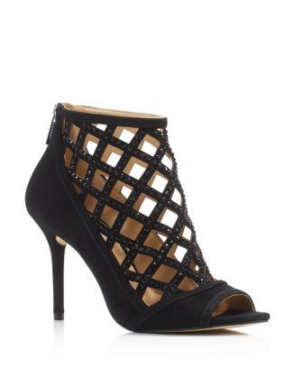4d918707029 MICHAEL Michael Kors Yvonne Open Toe High-Heel Caged Booties ...