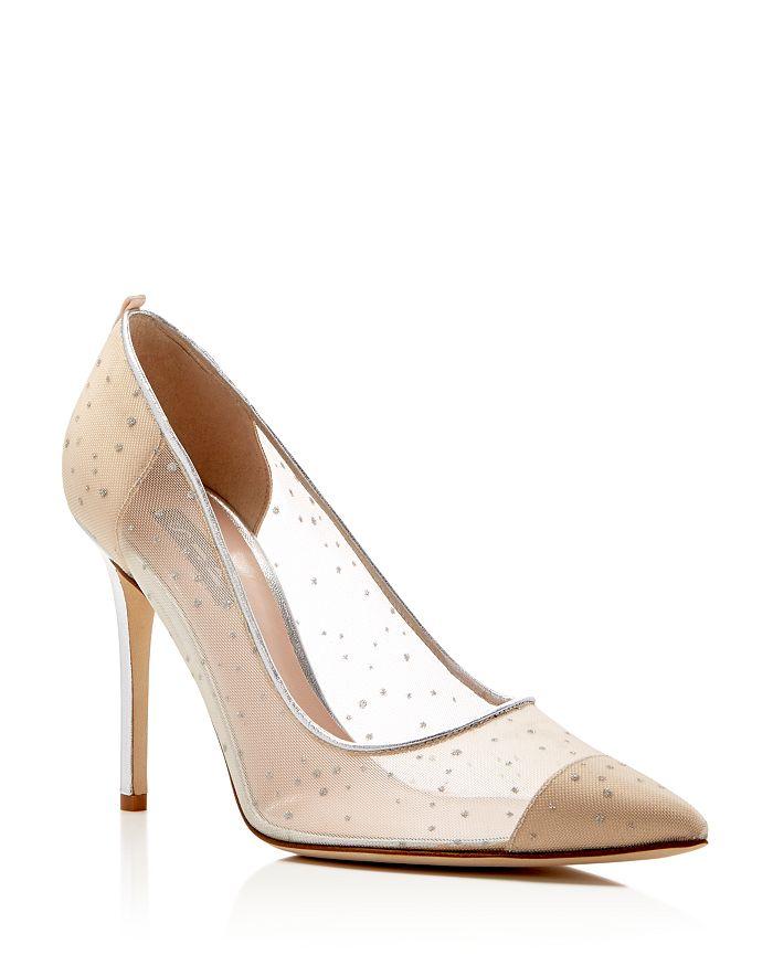 ed873abfcb SJP by Sarah Jessica Parker - Women's Glass Glitter Dot Pointed Toe High-Heel  Pumps