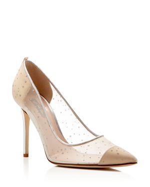 Sjp by Sarah Jessica Parker Glass Glitter Dot Pointed Toe High Heel Pumps