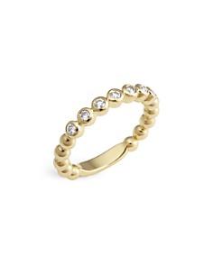 LAGOS - 18K Gold Beaded and Diamond Ring