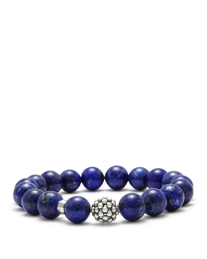 LAGOS - Caviar Ball Beaded Lapis Bracelet, 10mm