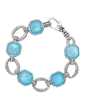 Lagos Turquoise Doublet Bracelet