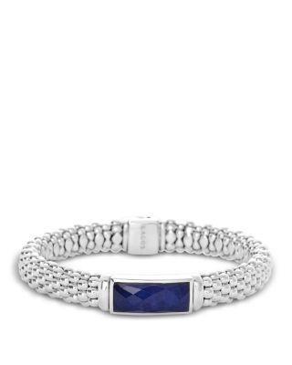 Sterling Silver Maya Lapis Doublet Rope Bracelet