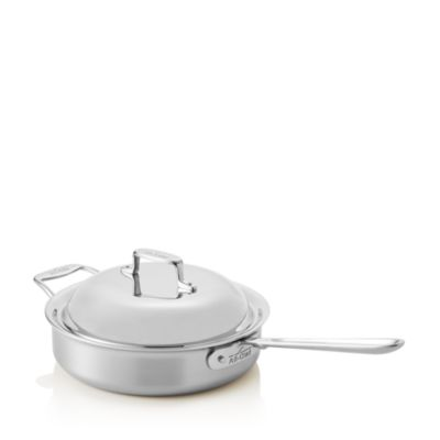 All-Clad d5 Stainless Brushed 4 Qt Saute Pan with Domed Lid