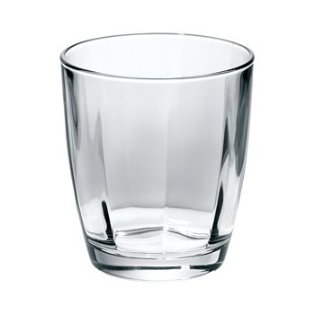 VIETRI - Optical Smoke Gray Double Old Fashioned Glass