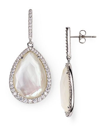 Nadri - Mother-of-Pearl Teardrop Earrings