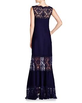Tadashi Shoji - Sleeveless Lace & Pintuck Gown