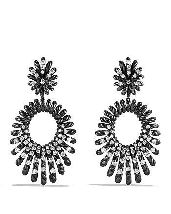 David Yurman - Tempo Double Drop Earrings with Diamonds