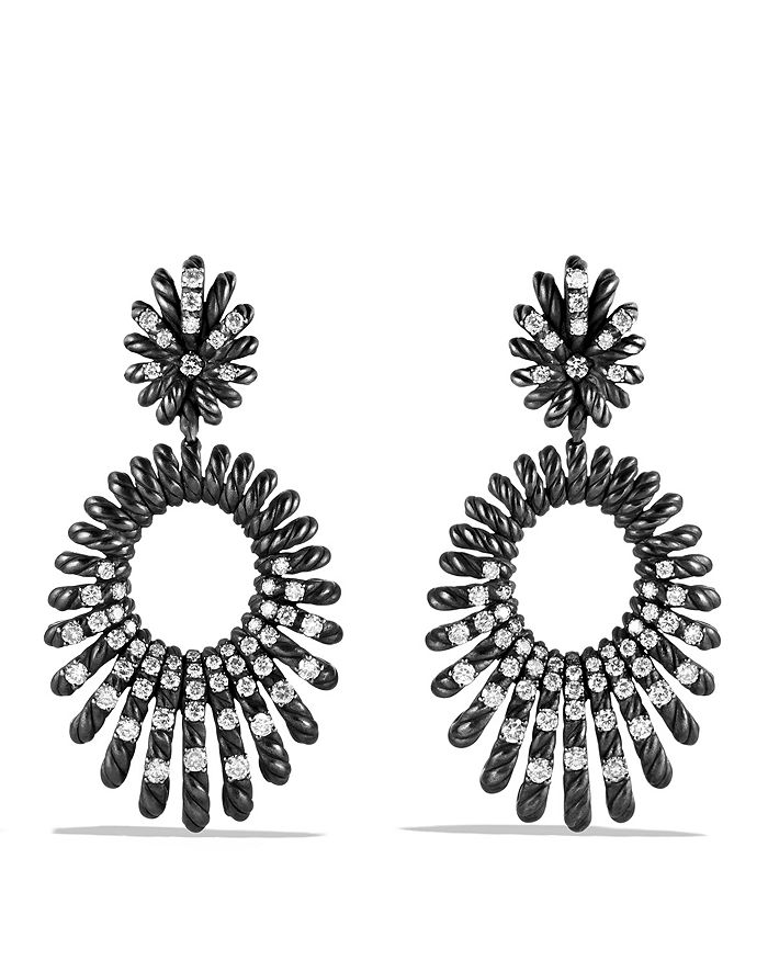 David Yurman - Tempo Double Drop Earrings with Diamonds